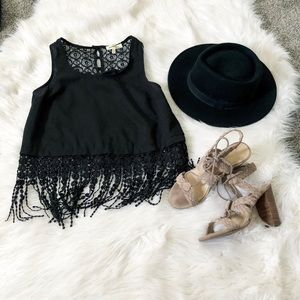 Tops - Festival fringe and lace top